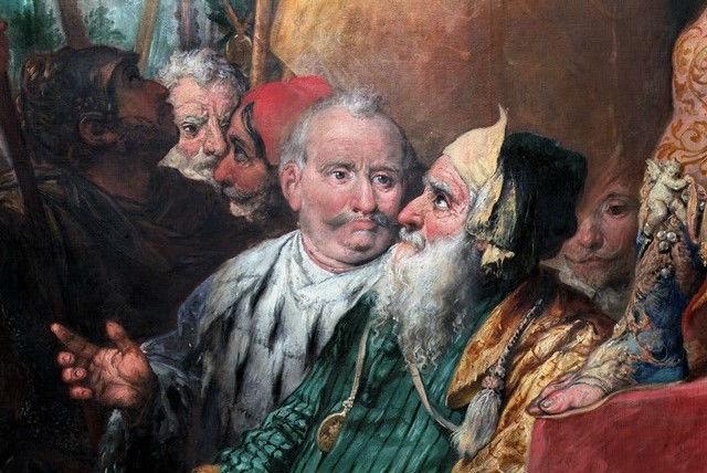 Particolare tela Andrea Celesti Chiesa Parrocchiale SS Pietro e Paolo